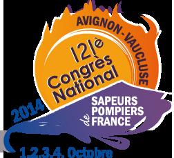 Logo 121ème Congrès National des Sapeurs-Pompiers d'Avignon